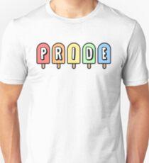 GAY PRIDE REGENBOGEN POPSICLES Slim Fit T-Shirt
