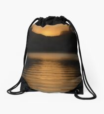 Melting Gold Evening Drawstring Bag