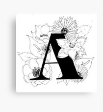 Floral alphabet Canvas Print