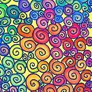 Vibrant Spiral  Pattern  by CarolineLembke