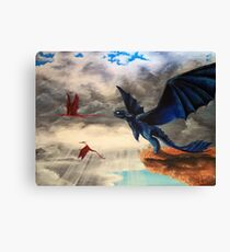 """Take Off""; HTTYD, Toothless Acryl  Canvas Print"