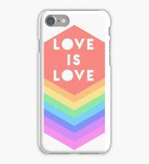 LOVE IS LOVE GAY PRIDE RAINBOW iPhone Case/Skin