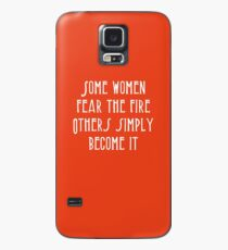 Funda/vinilo para Samsung Galaxy Algunas mujeres temen que el fuego simplemente se convierta en