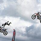 Flying stunt byker by David Patterson