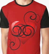 Elegant Flourish Heart Graphic T-Shirt