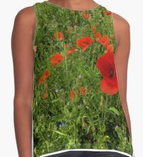 Red Poppies Contrast Tank