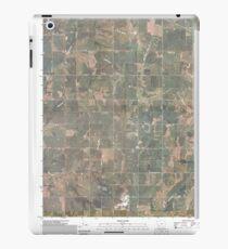 USGS TOPO Maps Iowa IA Red Oak South 20100505 TM iPad Case/Skin