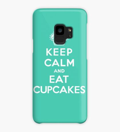 Keep Calm and Eat Cupcakes - white type Case/Skin for Samsung Galaxy