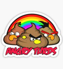 Angry Turds Sticker