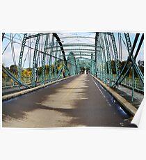 South Washington Bridge Fisheye Landscape Poster