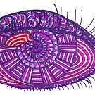 Purple Eye of Third eye chakra by maggiepuffle