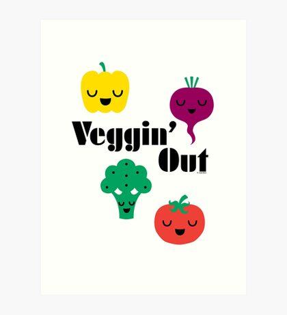 veggin' Out (black type)  Art Print