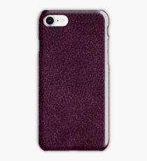 Dark purple leather sheet texture abstract iPhone Case/Skin