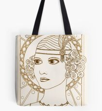 Vintage 1920s Flapper Girl - Sepia Tote Bag