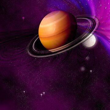 An unknown planet in space. by fotokatt