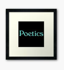 Poetics Framed Print