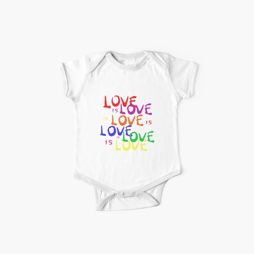 Regenbogen Liebe ist Liebe ist Liebe - Gay Pride Baby Body
