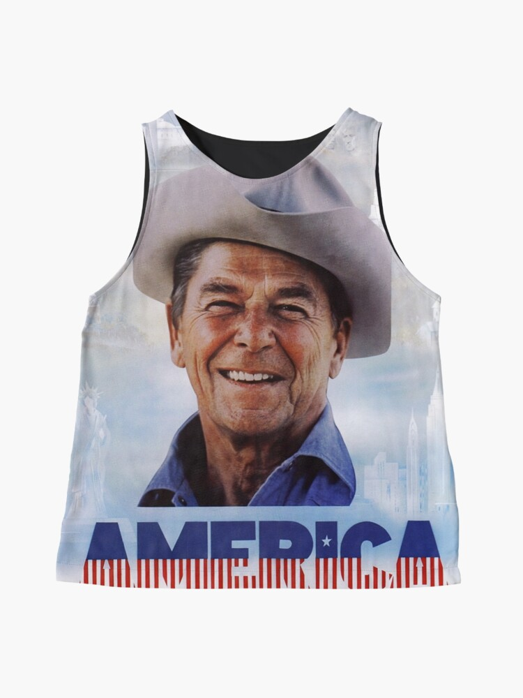 Alternate view of America Reagan Country - Vintage 1980s Campaign Poster Sleeveless Top