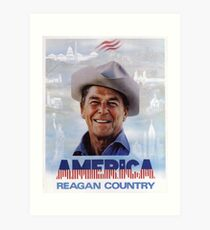 America Reagan Country - Vintage 1980s Campaign Poster Art Print