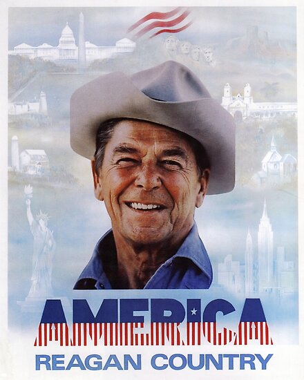 Quot America Reagan Country Vintage 1980s Campaign Poster