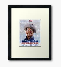 America Reagan Country - Vintage 1980s Campaign Poster Framed Print