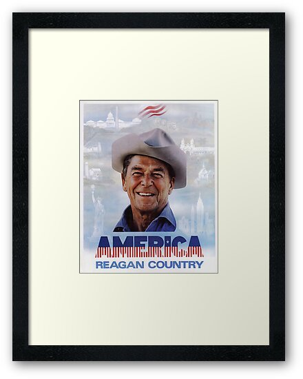 America Reagan Country - Vintage 1980s Campaign Poster\
