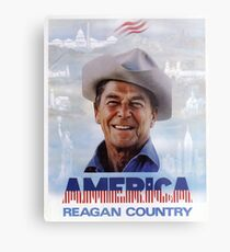 America Reagan Country - Vintage 1980s Campaign Poster Metal Print