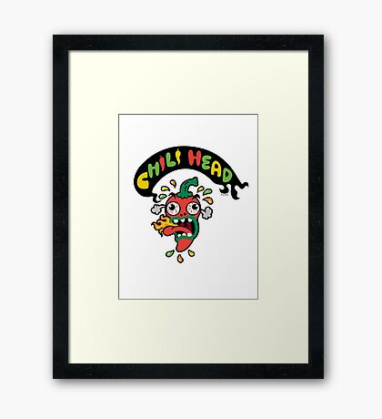 Chili Head    Framed Print
