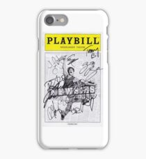 Signed Newsies Playbill iPhone Case/Skin