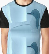 Little Penguin Blue Graphic T-Shirt