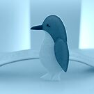 Kleines Pinguin-Blau von Evita