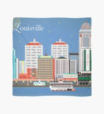 Louisville, Kentucky - Skyline Illustration by Loose Petals Scarf