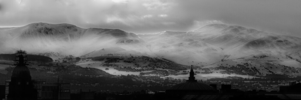 Pentland Hills Snow Storm by Chris Clark