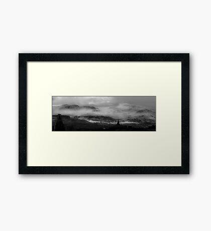 Pentland Hills Snow Storm Framed Print