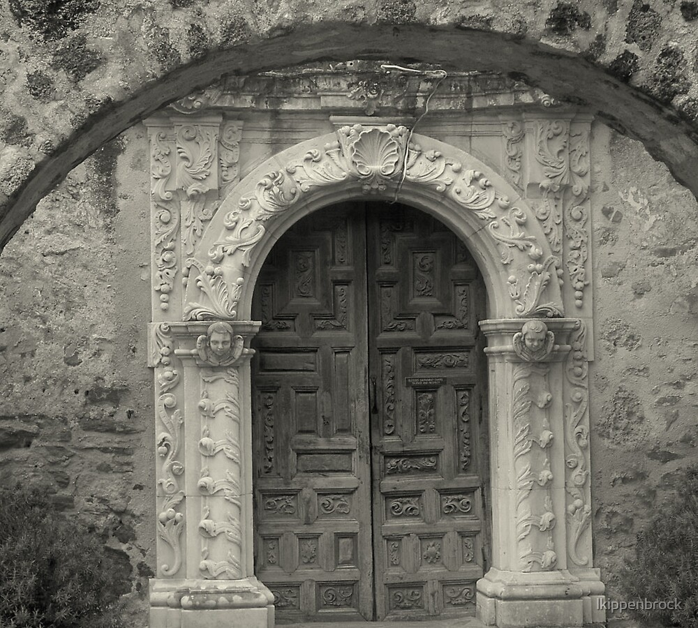 San Antonio Mission Door by lkippenbrock