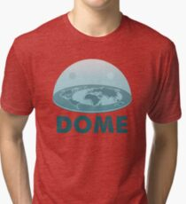 DOME - Flat Earth Designs Tri-blend T-Shirt