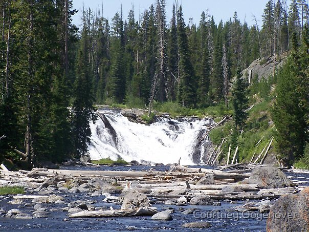 waterfall at Yellowstone.. by Courtney Oogenover