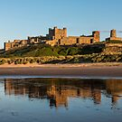 bamburgh castle and Reflections by David Patterson