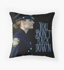 Back down Throw Pillow