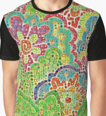 Abstract Floral Art Graphic T-Shirt
