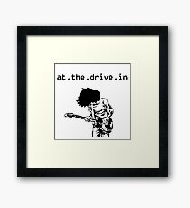 At the Drive-in • Black Framed Print