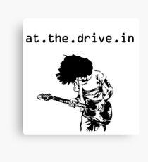 At the Drive-in • Black Canvas Print