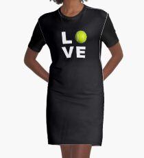Liebes-Tennis-Trainings-Entwurf T-Shirt Kleid