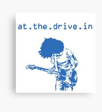 At the Drive-in • Blue Canvas Print
