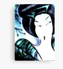 jade oriental midnight geisha Canvas Print