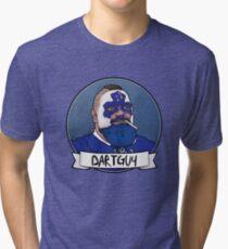 DartGuy DartMan Leafs Fan Hockey T-shirt Love Dart Guy Tri-blend T-Shirt