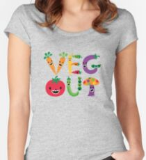 Veg Out - maize Women's Fitted Scoop T-Shirt