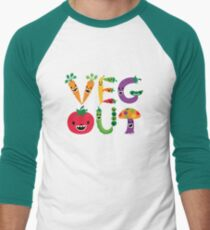 Veg Out - maize Men's Baseball ¾ T-Shirt