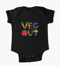 Veg Out - maize Short Sleeve Baby One-Piece