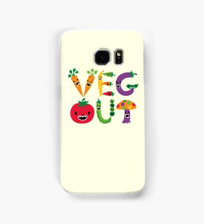 Veg Out - maize Samsung Galaxy Case/Skin